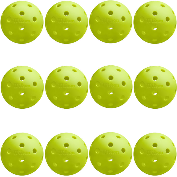 Wilson Tru 32 Pickleballs (12 Pack)